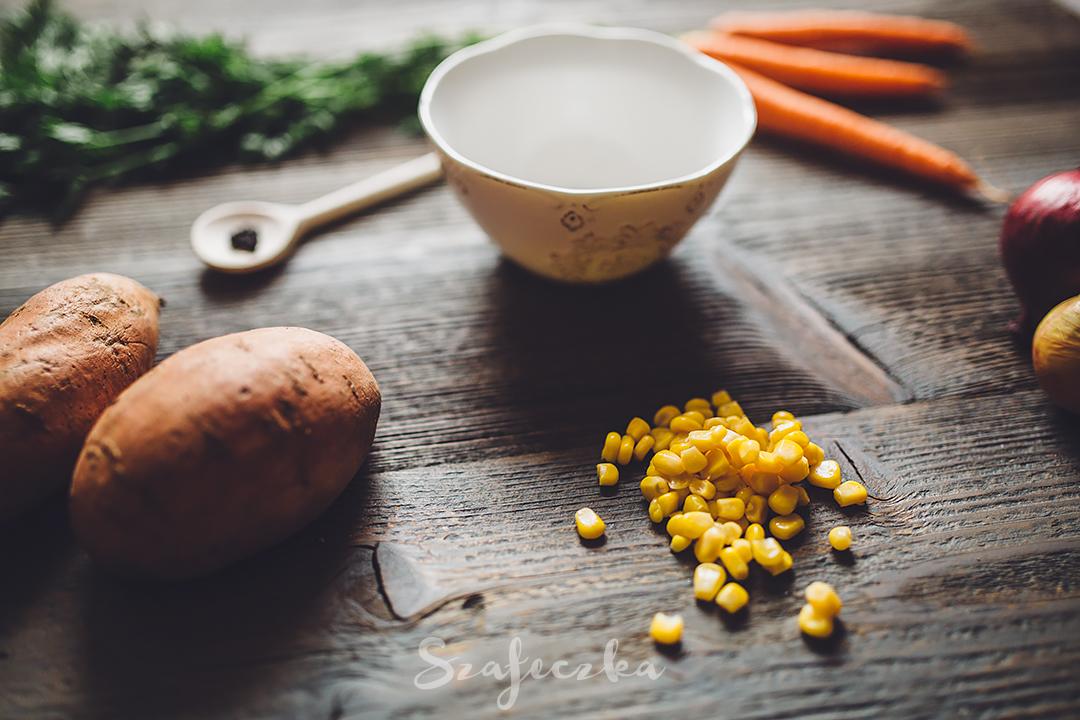 Zupa krem z batatów i kukurydzy
